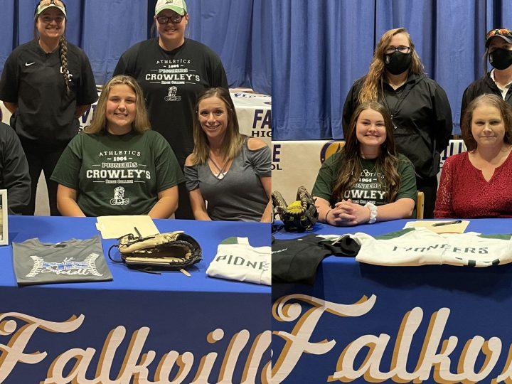 Falkville teammates sign with Crowley Ridge softball