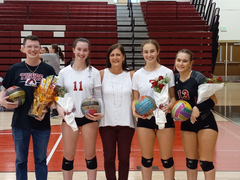 Hartselle volleyball celebrates senior night